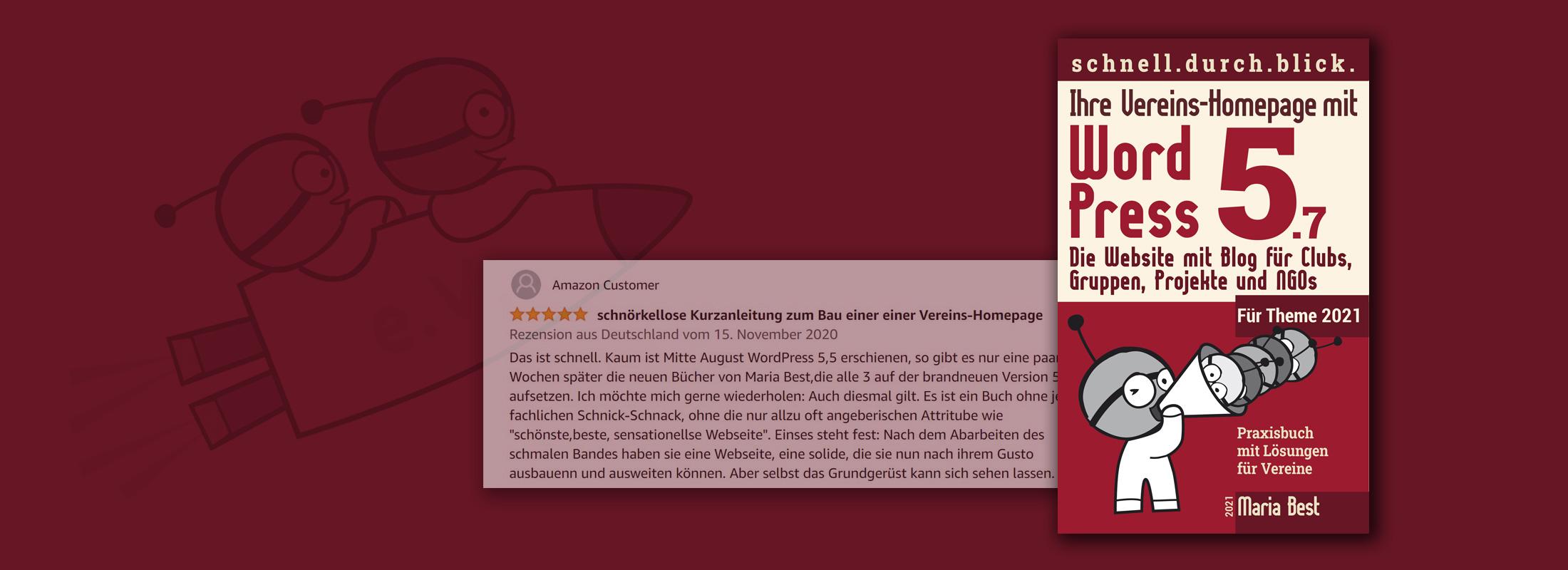 Ihre Vereins-Homepage mit WordPress 5.7